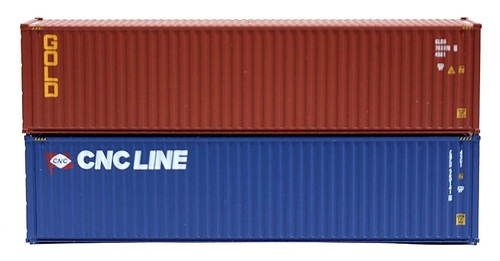 Jacksonville Terminal Company N 405806 40' High Cube Containers, CNC Line/Gold (2)