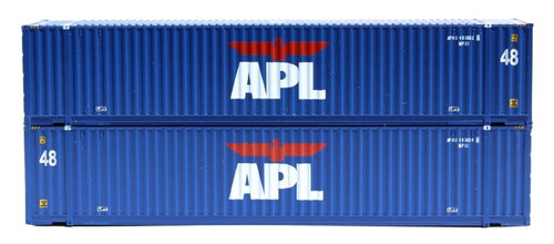 Jacksonville Terminal Company N 485004 48' High Cube 3-42-3 Container Set #1, APL (2)