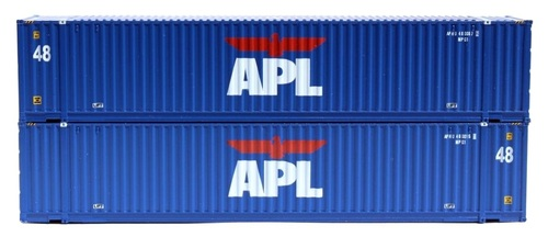 Jacksonville Terminal Company N 485018 48' High Cube 3-42-3 Container Set #2, APL (2)