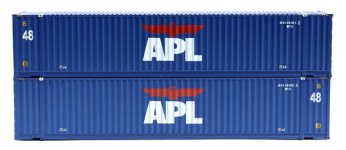 Jacksonville Terminal Company N 485019 48' High Cube 3-42-3 Container Set #3, APL (2)