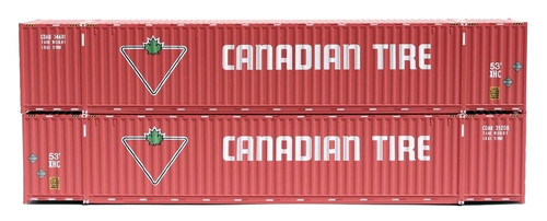 Jacksonville Terminal Company N 535047 53' High Cube 6-42-6 Container Set #2, Canadian Tire (2)