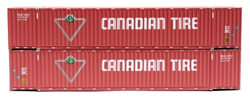 Jacksonville Terminal Company N 535064 53' High Cube 6-42-6 Container Set #3, Canadian Tire (2)