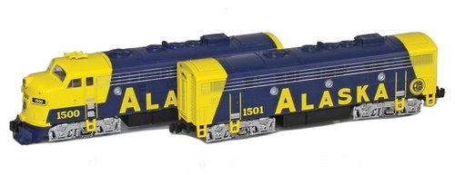American Z Line Z 63011-1 EMD F7A/B Set, Alaska Railroad #1500/1501