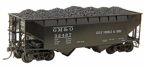 Kadee HO 7525 50-Ton AAR Standard 2-Bay Open Hopper, Gulf Mobile and Ohio #32487