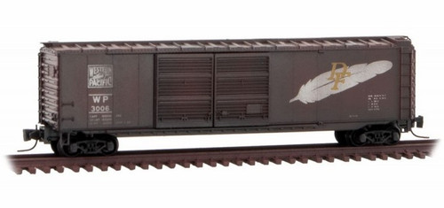 Micro-Trains Z 50644230 Weathered 50' Standard Box Car with Double Doors, Western Pacific