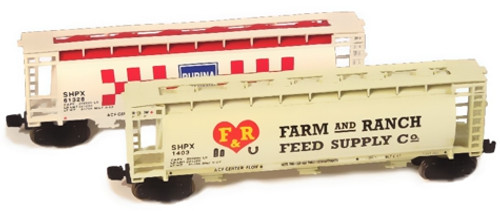 Full Throttle Z FTCOL56 Freight Hopper Set, Farm Feeds II (2-Pack)
