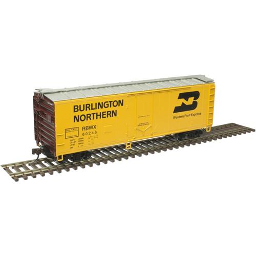 Atlas Trainman HO 20006142 40' Plug Door Box Car, Burlington Northern (RBWX) #60246