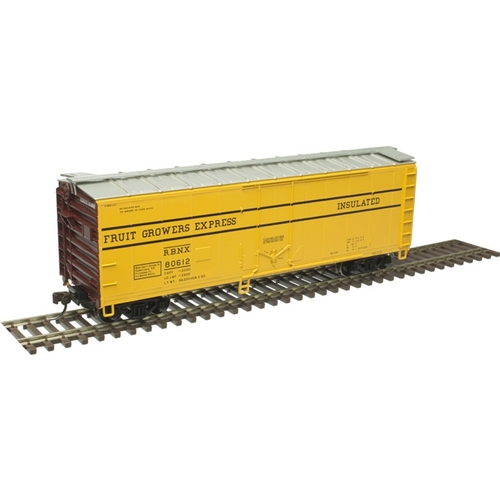 Atlas Trainman HO 20006145 40' Plug Door Box Car, Fruit Growers Express (RBNX) #80598