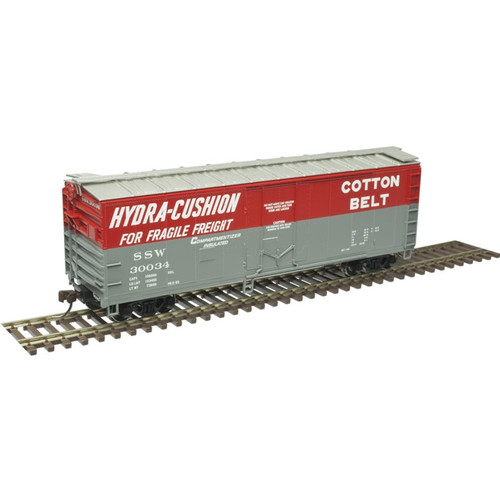 Atlas Trainman HO 20006148 40' Plug Door Box Car, Cotton Belt #30026