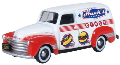 Oxford Diecast HO 87CV50003 1950 Chevrolet 3100 Panel Van, Hank's Country Diner