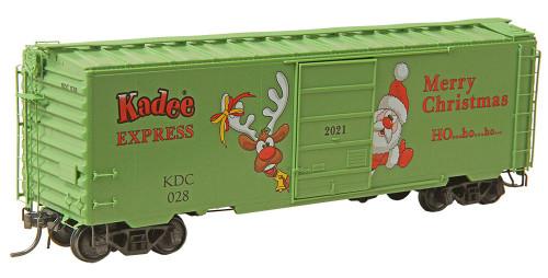 Kadee HO6928 40' PS-1 Box Car, 2021 Kadee Christmas Car #028
