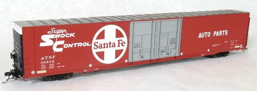 Tangent Scale Models HO 25023-02 Greenville 86' Double Plug Door Box Car, Atchison Topeka and Santa Fe #36911