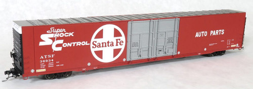 Tangent Scale Models HO 25023-04 Greenville 86' Double Plug Door Box Car, Atchison Topeka and Santa Fe #36918