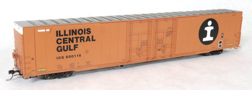 Tangent Scale Models HO 25030-04 Greenville 86' Double Plug Door Box Car, Illinois Central Gulf #680116