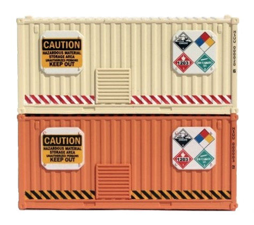 Jacksonville Terminal Company N 205002 Visionary Series 20' Standard Height Containers, Hazmat Storage (2)