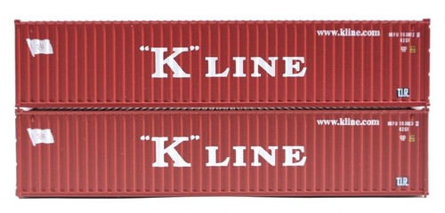 """Jacksonville Terminal Company N 405341 40' Standard Height Containers, """"K"""" Line (2)"""