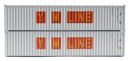 Jacksonville Terminal Company N 405345 40' Standard Height Containers, YM Line (2)