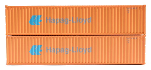 Jacksonville Terminal Company N 405349 40' Standard Height Containers, Hapag-Lloyd (Faded Scheme) (2)