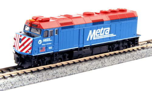 """Kato N 1769102-DCC EMD F40PH with Ditch Lights, Chicago Metra """"Village of Winfield"""" #160"""