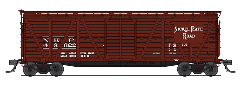 Broadway Limited HO ~ New York Central ~ Cattle Sounds ~ Wood Stock Car 2525