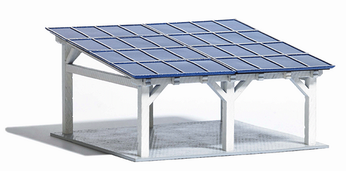 Busch Ho 1572 Slanted Roof Carport With Solar Panels Kit