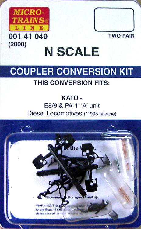Micro Trains N 00141040 2000 Coupler Conversion Kit For