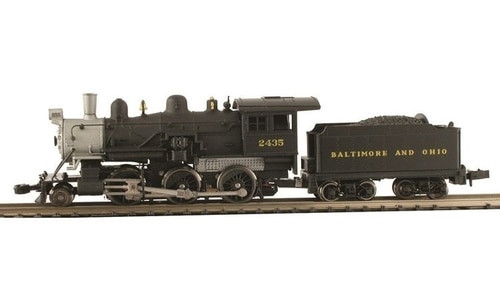 Model Power N 876021 2-6-0 Mogul Steam Locomotive, Baltimore and Ohio #2441  (DCC and Sound Equipped with Knuckle Couplers)