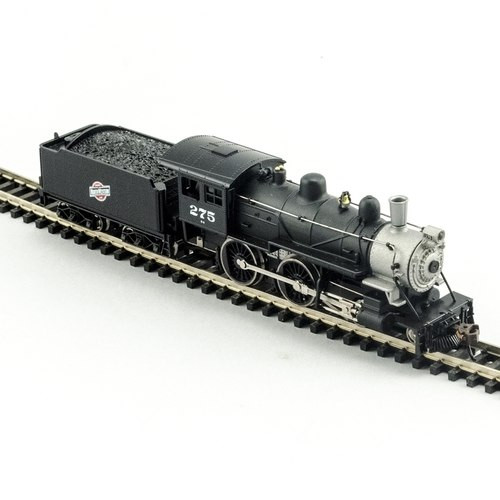 Model Power N 876251 4-4-0 American Steam Locomotive, Chicago and North  Western #275 (DCC and Sound Equipped)
