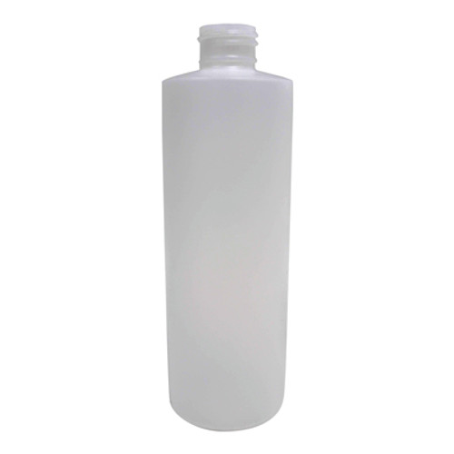 Bottle- 8 oz Cylinder, Natural HDPE (24/410)