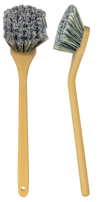 "20"" Angled Head Bristles Brush- Salt & Pepper Polystyrene"