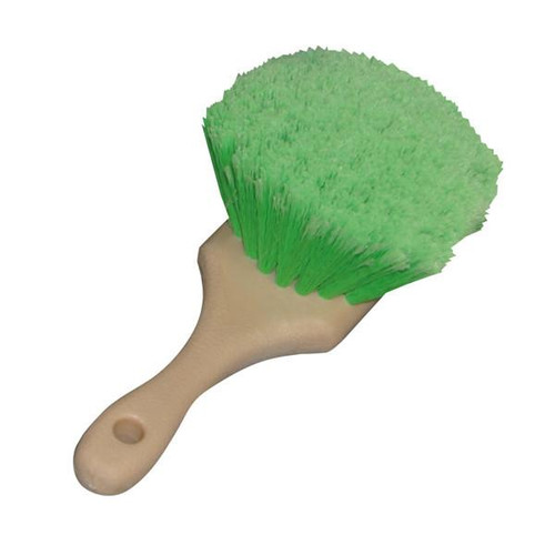 Flagged Tips Green Polystyrene Bristles Brush 8.5""