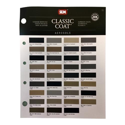 Color Chart - Classic Coat Aerosols