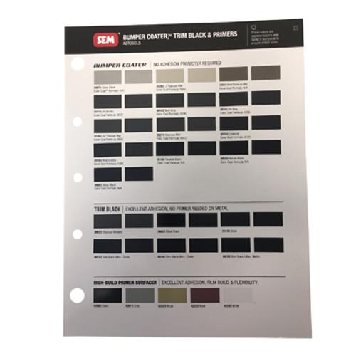 Color Chart - Bumper Coater Aerosols