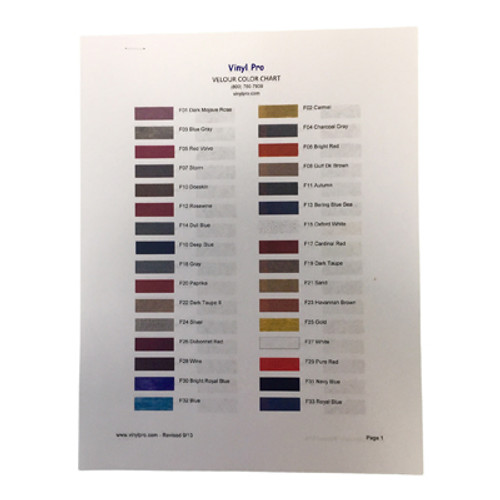Color Chart: Fibers