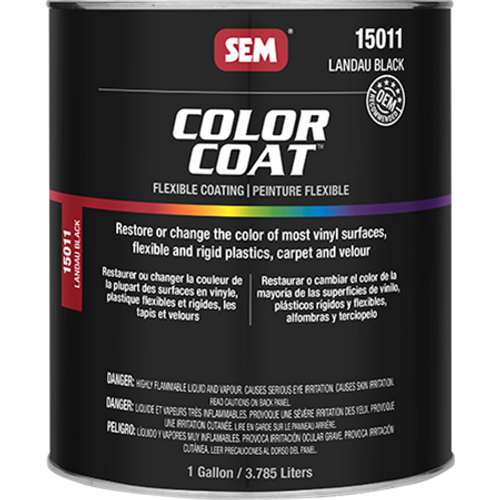 Color Coat: Landau Black (032 oz - Cone Quart)