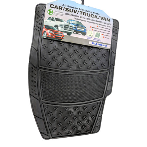 Carpet Mat: Diamond Rubber (Black)