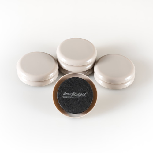 """2 1/2"""" Round Reusable Small Furniture Sliders for Carpet to Move Your Small Items"""