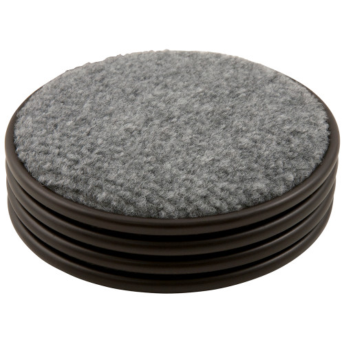 Round Carpet Bottom Caster Cups, Brown/Gray