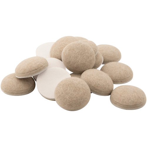 """1"""" Round Felt Furniture Pads for Uneven Surfaces"""