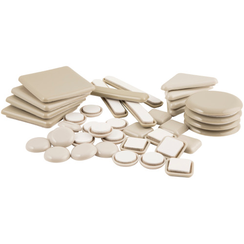Table and Chair Mixed Pack Self Stick Furniture Sliders for Carpet