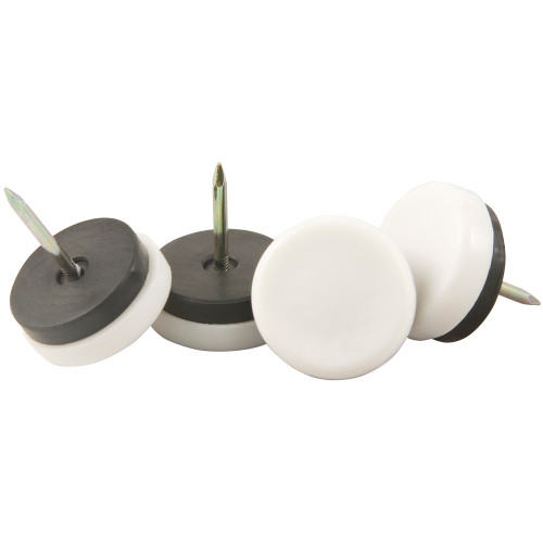Furniture Glides for Wooden Legs, White