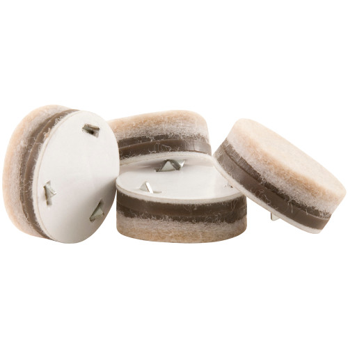 """1"""" Round Ultimate Grip Pads for Wooden Furniture, Beige (8 Pack)"""