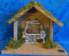 """8"""" Fontanini Wooden Stable for 3.5"""" Nativity Figures 55062"""