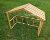 wooden manger stable outdoor nativity set