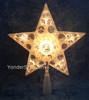 Jewel Star Tree Topper Clear Lights