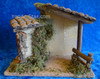 """10"""" Fontanini Wooden Stable for 5"""" Nativity Figures plays Silent Night - 54125"""