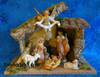 Fontanini nativity scene with wooden stable