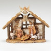 "5"" Fontanini Nativity Scene - 7 pc w 9"" Resin Stable"