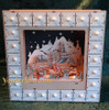 Wood Advent calendar lighted