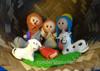 Bread dough nativity